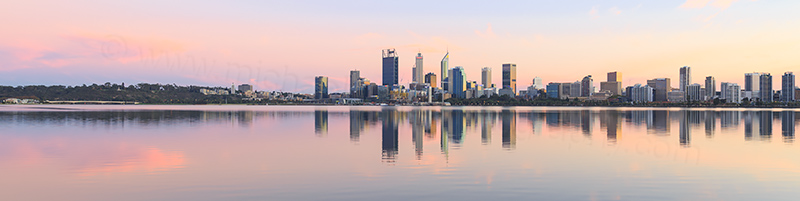 Perth and the Swan River at Sunrise, 15th April 2018