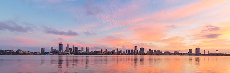 Perth and the Swan River at Sunrise, 17th April 2018