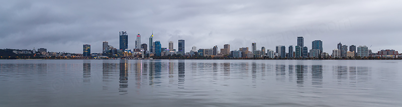 Perth and the Swan River at Sunrise, 18th April 2018