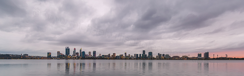 Perth and the Swan River at Sunrise, 19th April 2018