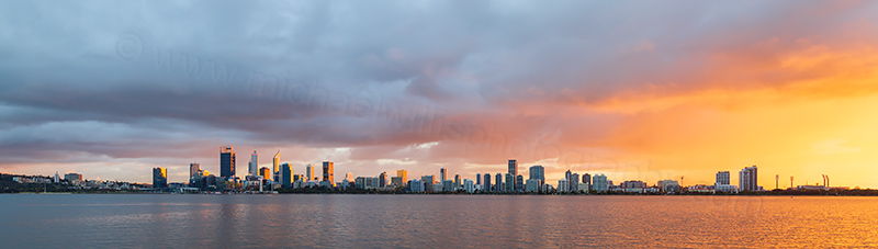 Perth and the Swan River at Sunrise, 20th April 2018
