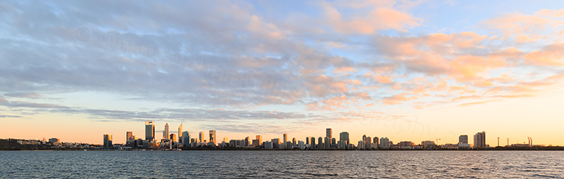 Perth and the Swan River at Sunrise, 21st April 2018