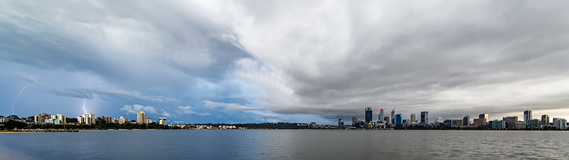 Perth and the Swan River at Sunrise, 22nd April 2018