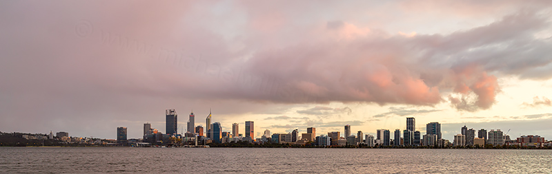 Perth and the Swan River at Sunrise, 23rd April 2018