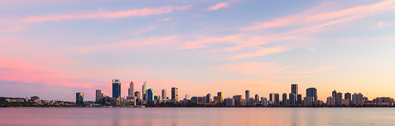 Perth and the Swan River at Sunrise, 28th April 2018