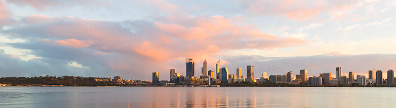 Perth and the Swan River at Sunrise, 1st May 2018