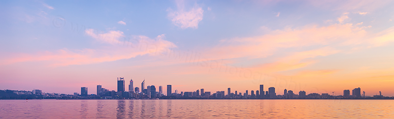 Perth and the Swan River at Sunrise, 4th May 2018