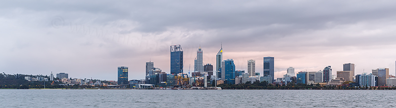 Perth and the Swan River at Sunrise, 6th May 2018