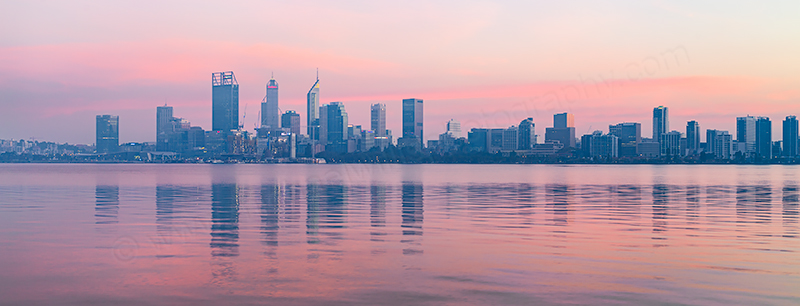 Perth and the Swan River at Sunrise, 7th May 2018