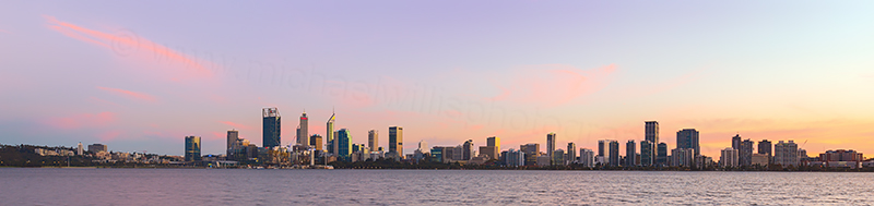 Perth and the Swan River at Sunrise, 10th May 2018