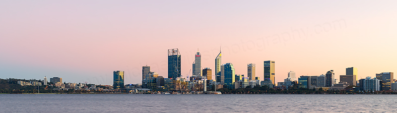 Perth and the Swan River at Sunrise, 11th May 2018