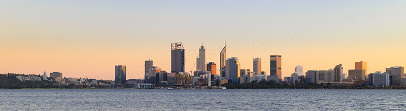 Perth and the Swan River at Sunrise, 15th May 2018