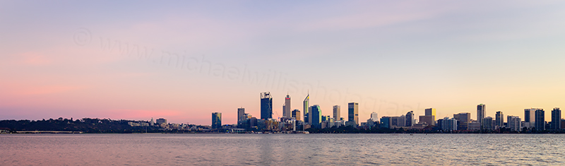 Perth and the Swan River at Sunrise, 17th May 2018