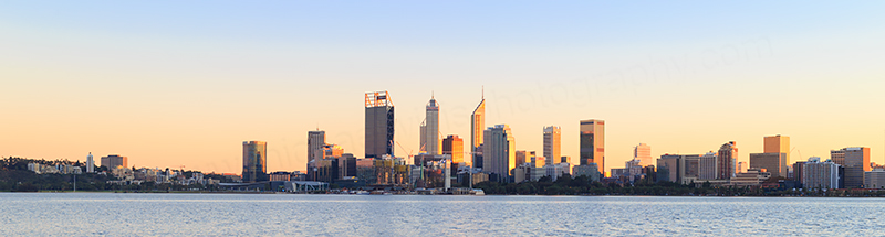 Perth and the Swan River at Sunrise, 22nd May 2018