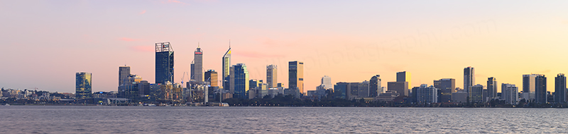 Perth and the Swan River at Sunrise, 23rd May 2018