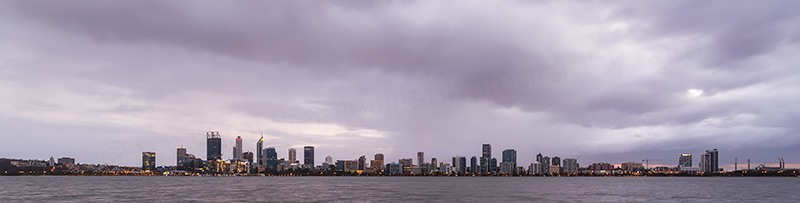 Perth and the Swan River at Sunrise, 27th May 2018