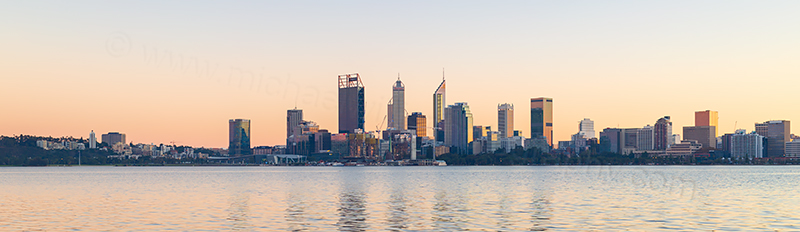 Perth and the Swan River at Sunrise, 30th May 2018