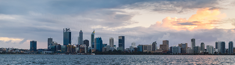 Perth and the Swan River at Sunrise, 10th June 2018
