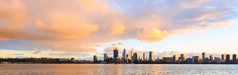 Perth and the Swan River at Sunrise, 12th June 2018