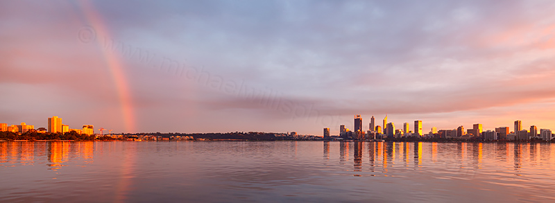 Perth and the Swan River at Sunrise, 22nd June 2018