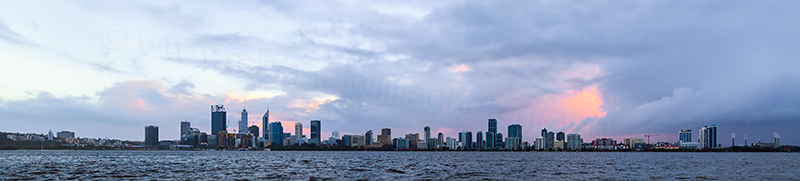 Perth and the Swan River at Sunrise, 22nd July 2018