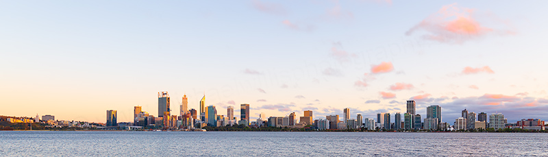Perth and the Swan River at Sunrise, 3rd October 2018