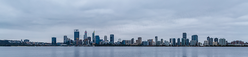 Perth and the Swan River at Sunrise, 6th October 2018