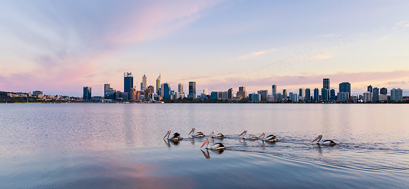Perth and the Swan River at Sunrise, 7th October 2018