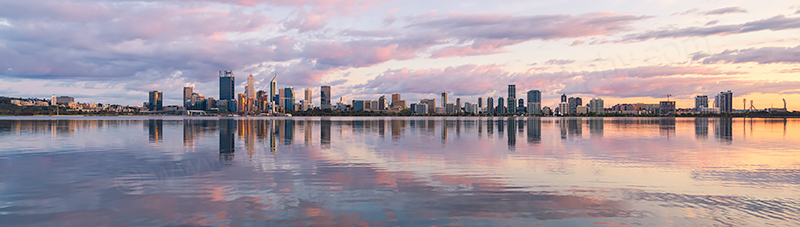 Perth and the Swan River at Sunrise, 8th October 2018