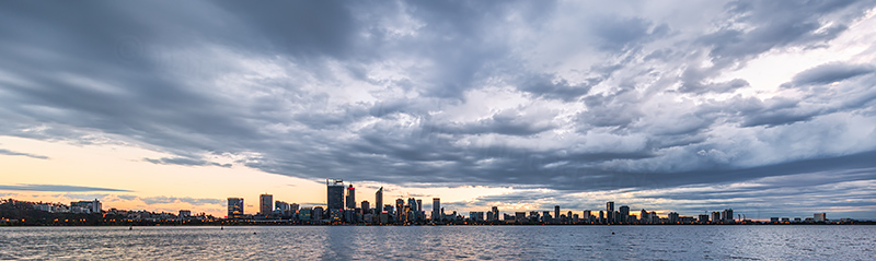Perth and the Swan River at Sunrise, 10th October 2018