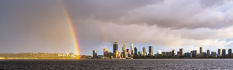 Perth and the Swan River at Sunrise, 14th October 2018