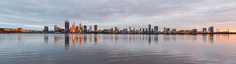 Perth and the Swan River at Sunrise, 15th October 2018