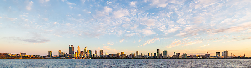 Perth and the Swan River at Sunrise, 17th October 2018