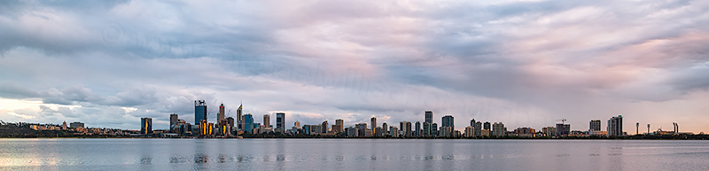 Perth and the Swan River at Sunrise, 19th October 2018