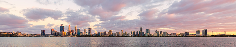Perth and the Swan River at Sunrise, 20th October 2018