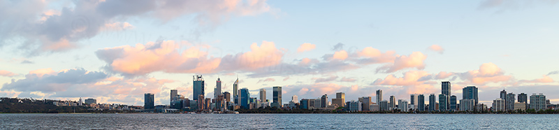 Perth and the Swan River at Sunrise, 21st October 2018