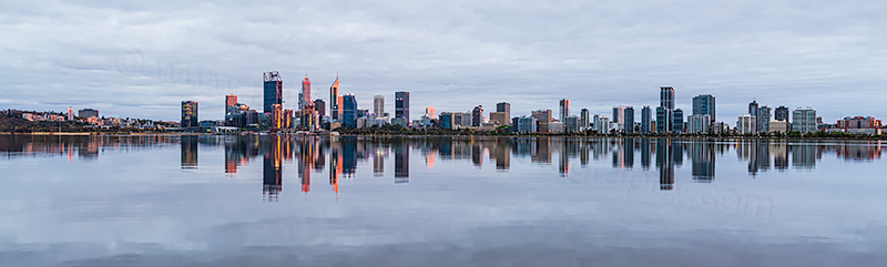 Perth and the Swan River at Sunrise, 24th October 2018