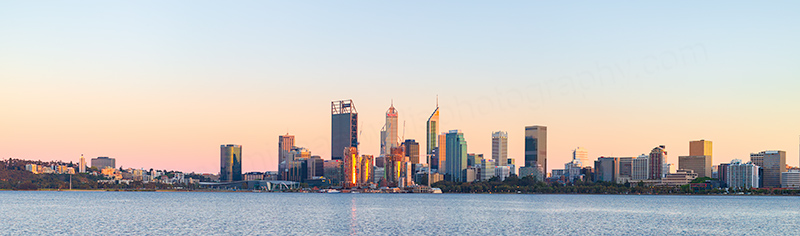 Perth and the Swan River at Sunrise, 25th October 2018