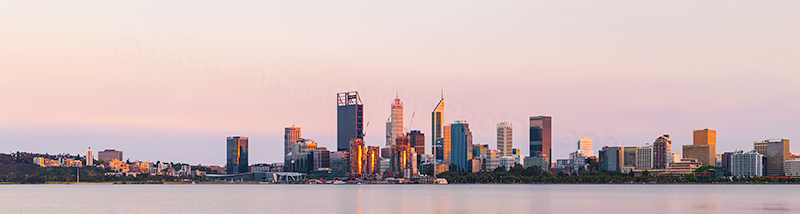Perth and the Swan River at Sunrise, 27th October 2018