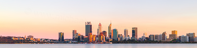 Perth and the Swan River at Sunrise, 28th October 2018