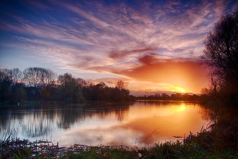 Winter Sunset - River Shannon