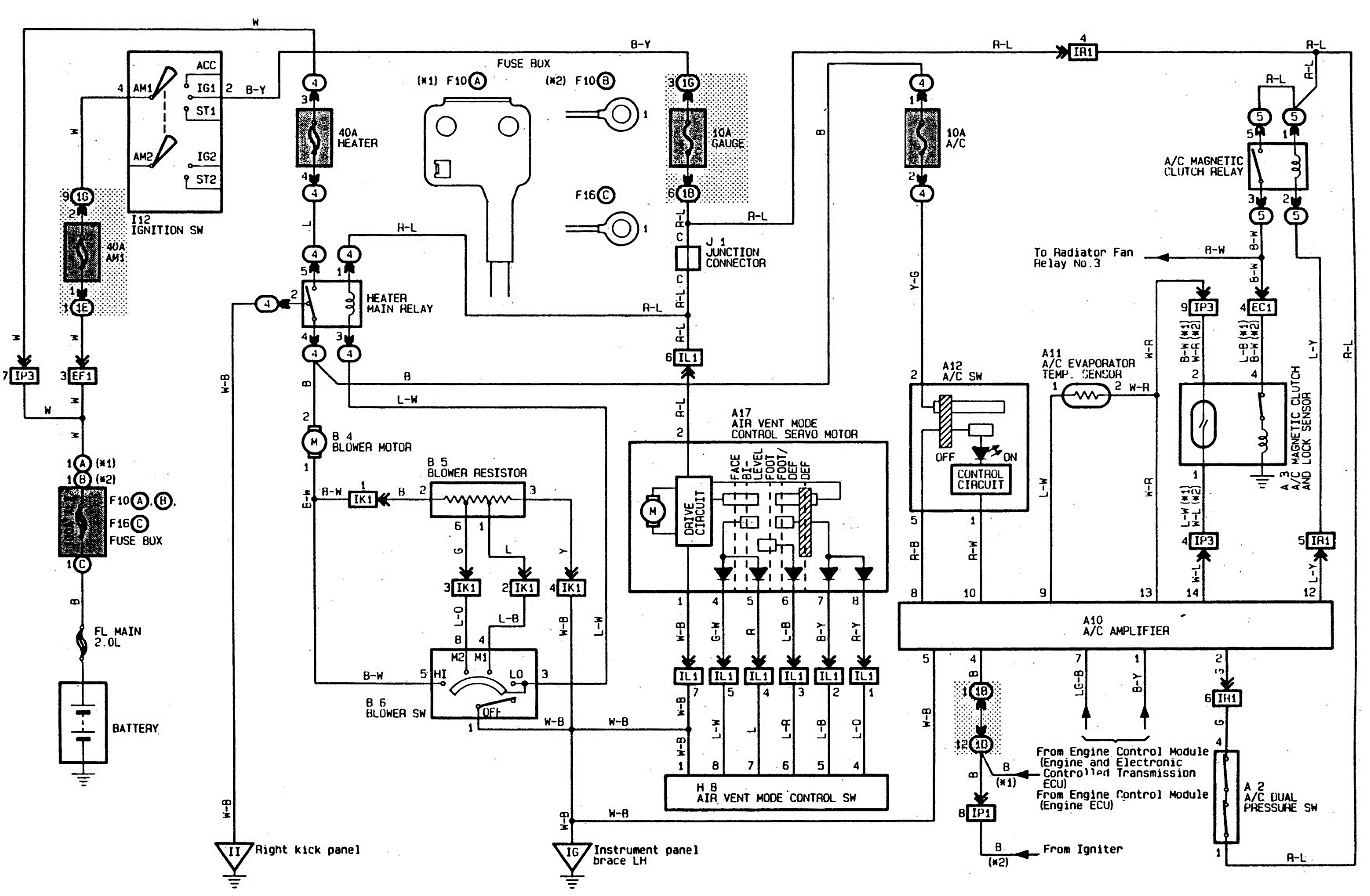 92 Toyota Camry Cooling Fan Wiring Diagram Library 01 2 Fans Ac 1994 6 Cyl Radiator Comes On Immediately Nation