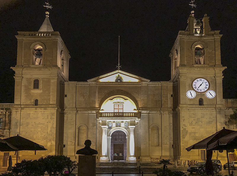 A lot of churches in Valletta