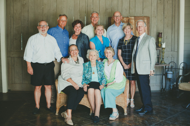 The Andrews five and spouses with my 90 year old Mother.jpeg
