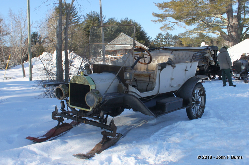 1912 Ford Model T Touring with front skis