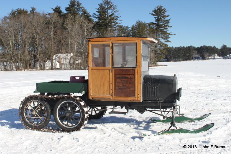 Wood Cab Model T Snowmobile