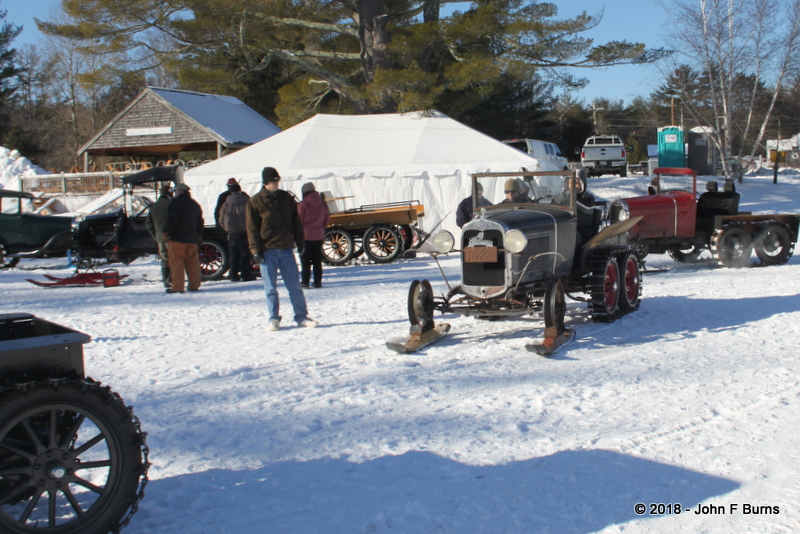 1930 Model A Ford Snowmobile