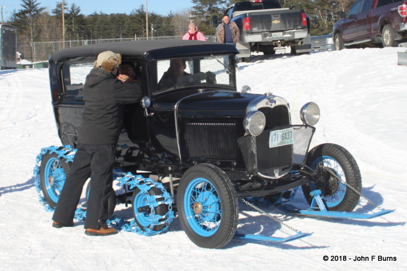 1930 Model A Tudor Sedan Snowmobile