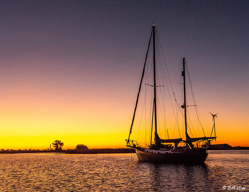 Sunset Sailboat  4  --  2019 Town of Discovery Bay Calendar Winner