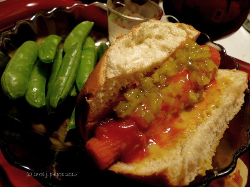 "Marinated Carrot ""Hotdog"""